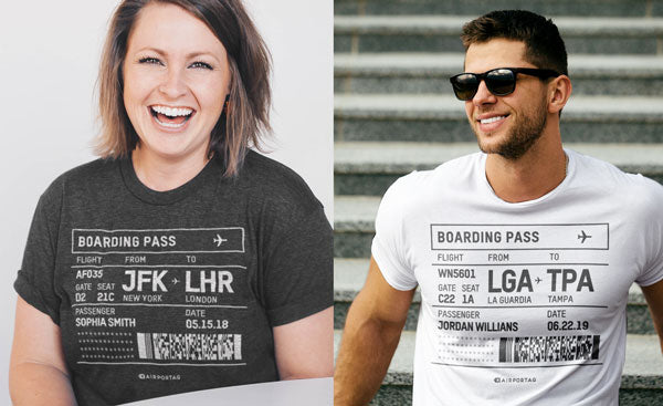 Personalized Boarding Pass T-shirts