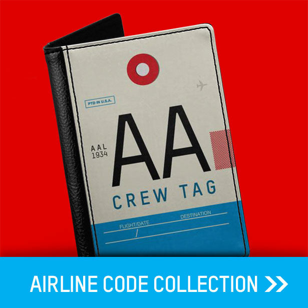 Airlines codes passport covers