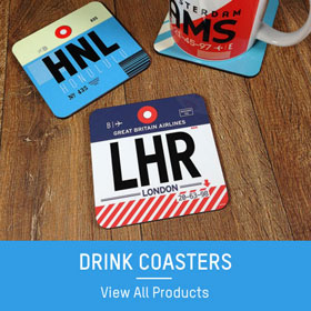 Aviation inspired drink coasters