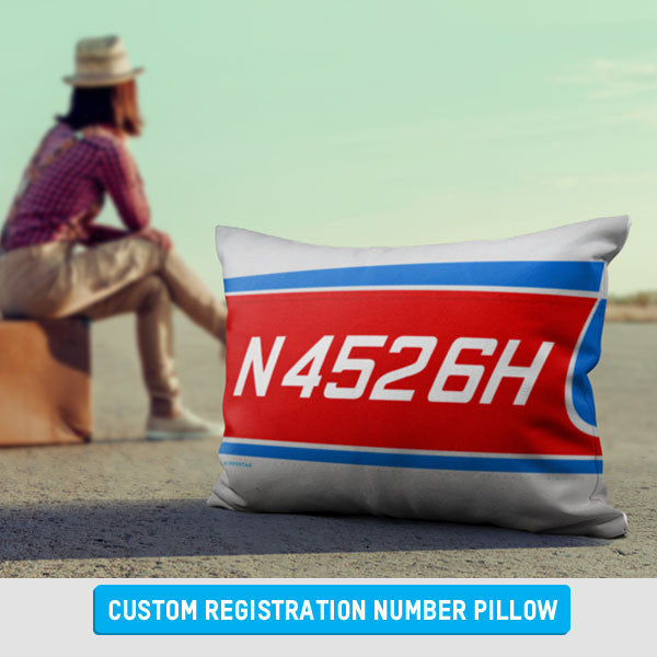 Personalized Registration Number Pillow for Pilots