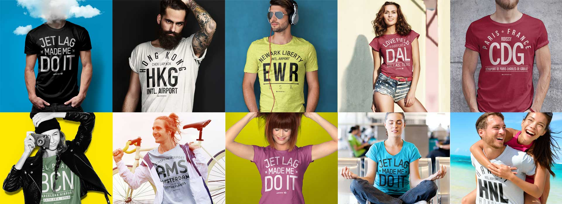 Airport code t-shirt collection