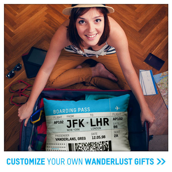 personalize a travel gift - wanderlust