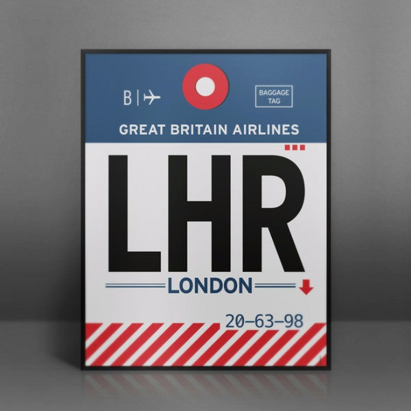 Poster Wall Art Print Lhr London Heathrow Airport