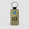 ACK - Leather Keychain - Airportag