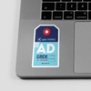 AD - Sticker