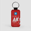 AK - Leather Keychain - Airportag