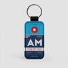 AM - Leather Keychain - Airportag