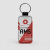 AMS - Leather Keychain - Airportag