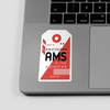 AMS - Sticker - Airportag