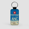 ANC - Leather Keychain