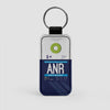 ANR - Leather Keychain - Airportag