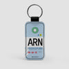 ARN - Leather Keychain - Airportag