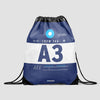 A3 - Drawstring Bag - Airportag