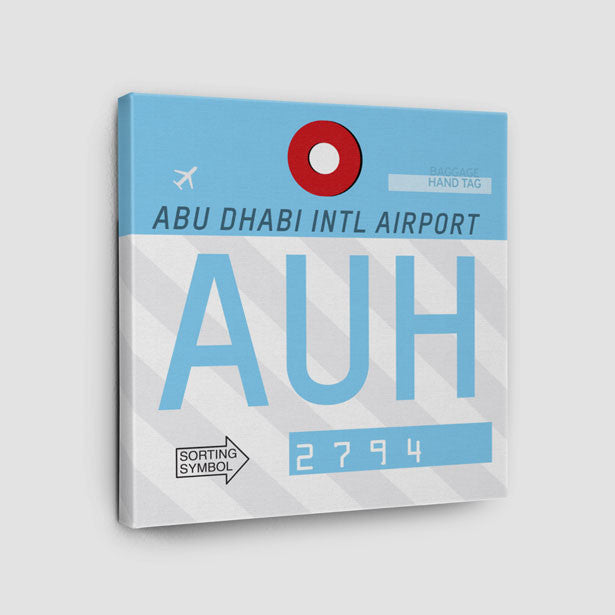 Airport Code Throw Pillow Auh Abu Dhabi Airport Uae