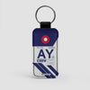 AY - Leather Keychain