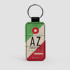 AZ - Leather Keychain - Airportag