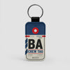 BA - Leather Keychain - Airportag