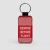 Remove Before Flight - Leather Keychain - Airportag