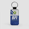 BFI - Leather Keychain - Airportag