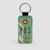 BOS - Leather Keychain - Airportag