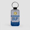 BUF - Leather Keychain - Airportag