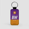 BW - Leather Keychain - Airportag