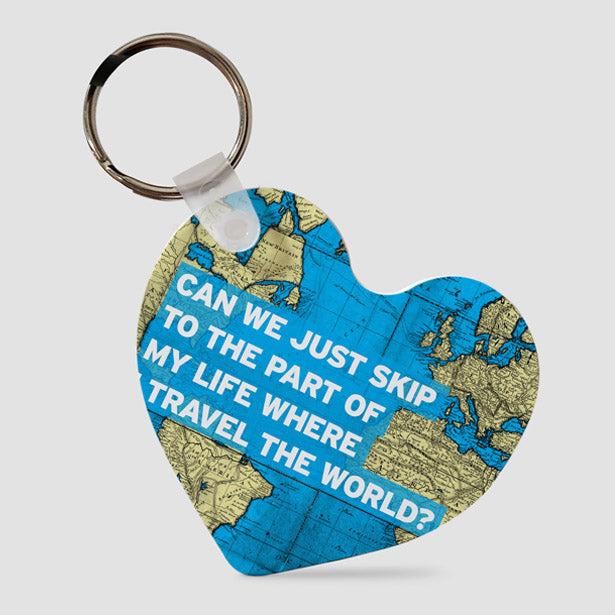 Can We Just - World Map - Keychain