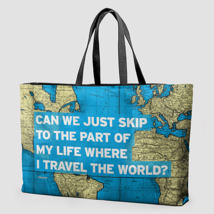 World map and travel quotes products airportag can we just world map weekender bag gumiabroncs Choice Image