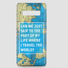 Can We Just - World Map - Phone Case - Airportag