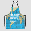 Can We Just - World Map - Kitchen Apron - Airportag