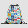Canadian Airports - Drawstring Bag - Airportag