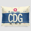 CDG - Pillow Sham - Airportag