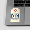 CDG - Sticker - Airportag