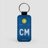 CM - Leather Keychain - Airportag