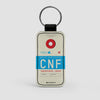 CNF - Leather Keychain - Airportag