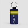 Co-Pilot's Insignia  - Leather Keychain - Airportag