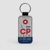 CP - Leather Keychain - Airportag