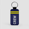 Crew Insignia  - Leather Keychain - Airportag