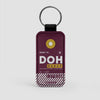 DOH - Leather Keychain - Airportag