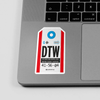 DTW - Sticker - Airportag