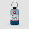 DVT - Leather Keychain - Airportag