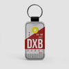 DXB - Leather Keychain - Airportag