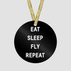 Eat Sleep Fly - Ornament - Airportag