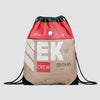 EK - Drawstring Bag - Airportag