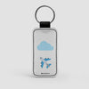Emoji Cloud Plane - Leather Keychain - Airportag