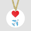 Emoji Heart Plane - Ornament