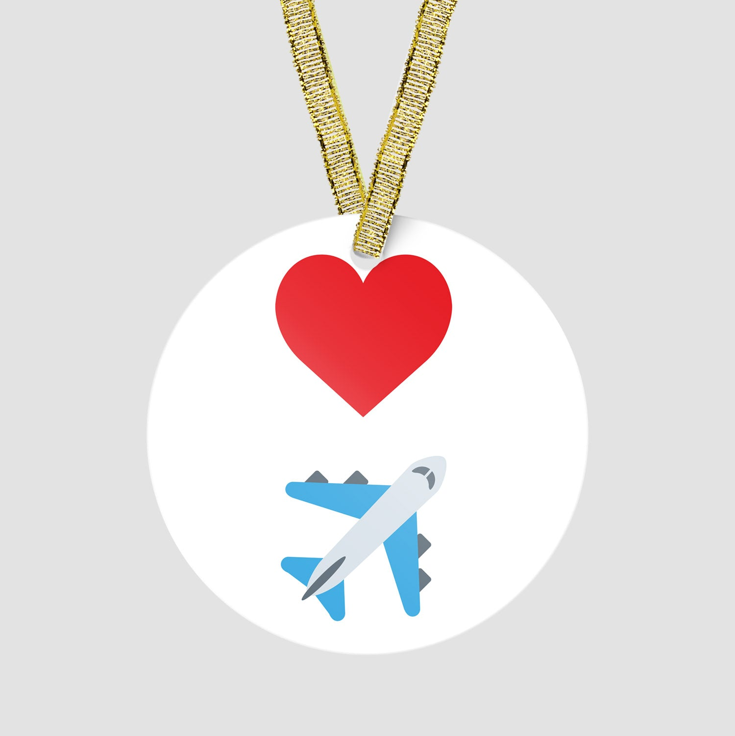 Emoji Heart Plane Ornament