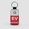 EV - Leather Keychain - Airportag