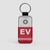 EV - Leather Keychain