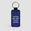 Fasten Seat Belt - Leather Keychain - Airportag